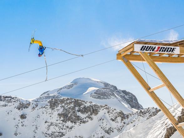 ski jump tignes