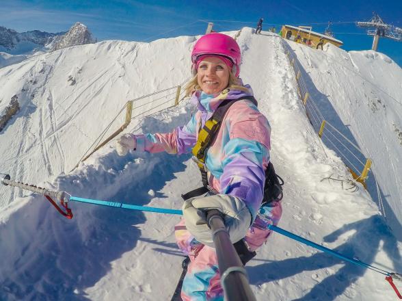 snowboard bungee jump